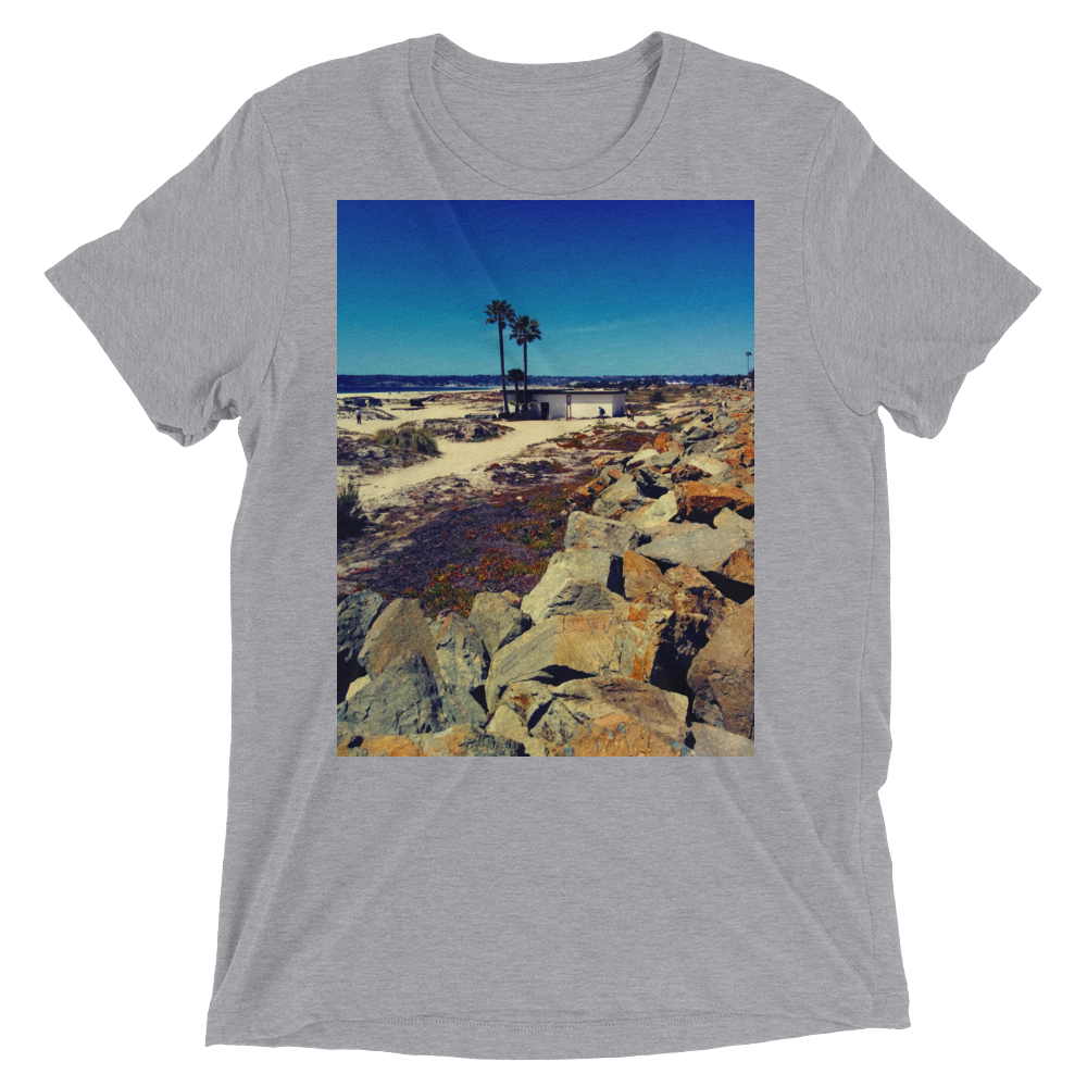 """Coronado Beach"" - Athletic Grey Triblend - Beachwear by Space Is Black Apparel"