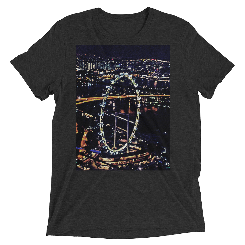 """The Singapore Wheel"" - Charcoal-Black Triblend - Streetwear by Space Is Black Apparel"