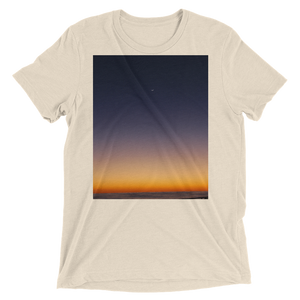 """Pacific Dawn"" - Oatmeal Triblend - Beachwear by Space Is Black Apparel"