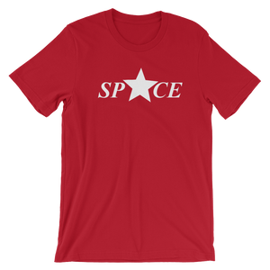 Star Space Short-Sleeve Unisex T-Shirt - Red - by Space Is Black Street T-Shirts