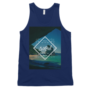"""SoCal"" Tank Top - Navy - Beachwear by Space Is Black Apparel"