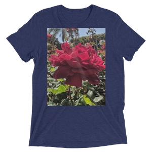 """Red Res"" - Navy Triblend - Beachwear by Space Is Black Apparel"