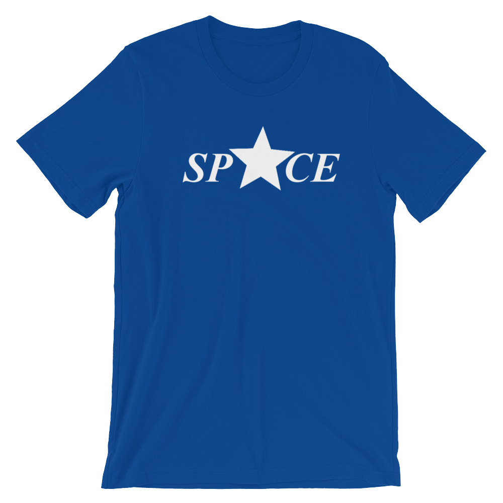 Star Space Short-Sleeve Unisex T-Shirt - True Royal - by Space Is Black Urban Clothing