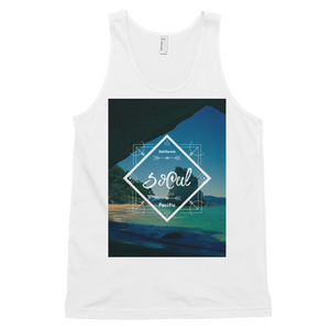 """SoCal"" Tank Top - White - Beachwear by Space Is Black Apparel"