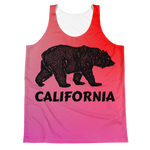 """California Bear"" Tank Top - XS - Beachwear by Space Is Black Apparel"