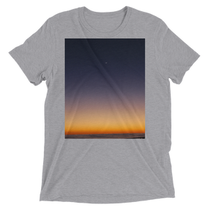 """Pacific Dawn"" - Athletic Grey Triblend - Beachwear by Space Is Black Apparel"