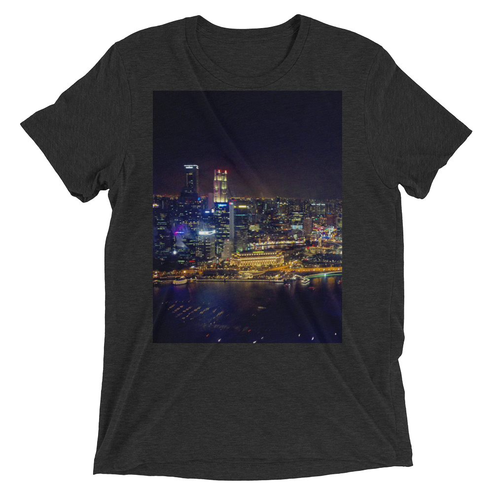 """West View"" - Charcoal-Black Triblend - Streetwear by Space Is Black Apparel"