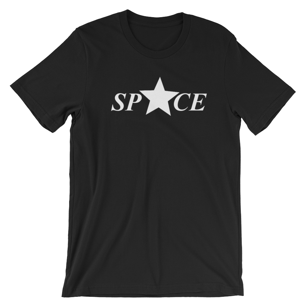 Star Space Short-Sleeve Unisex T-Shirt - Black - by Space Is Black Streetwear
