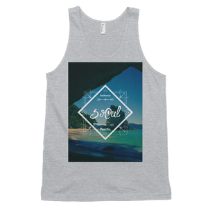 """SoCal"" Tank Top - Heather Grey - Beachwear by Space Is Black Apparel"