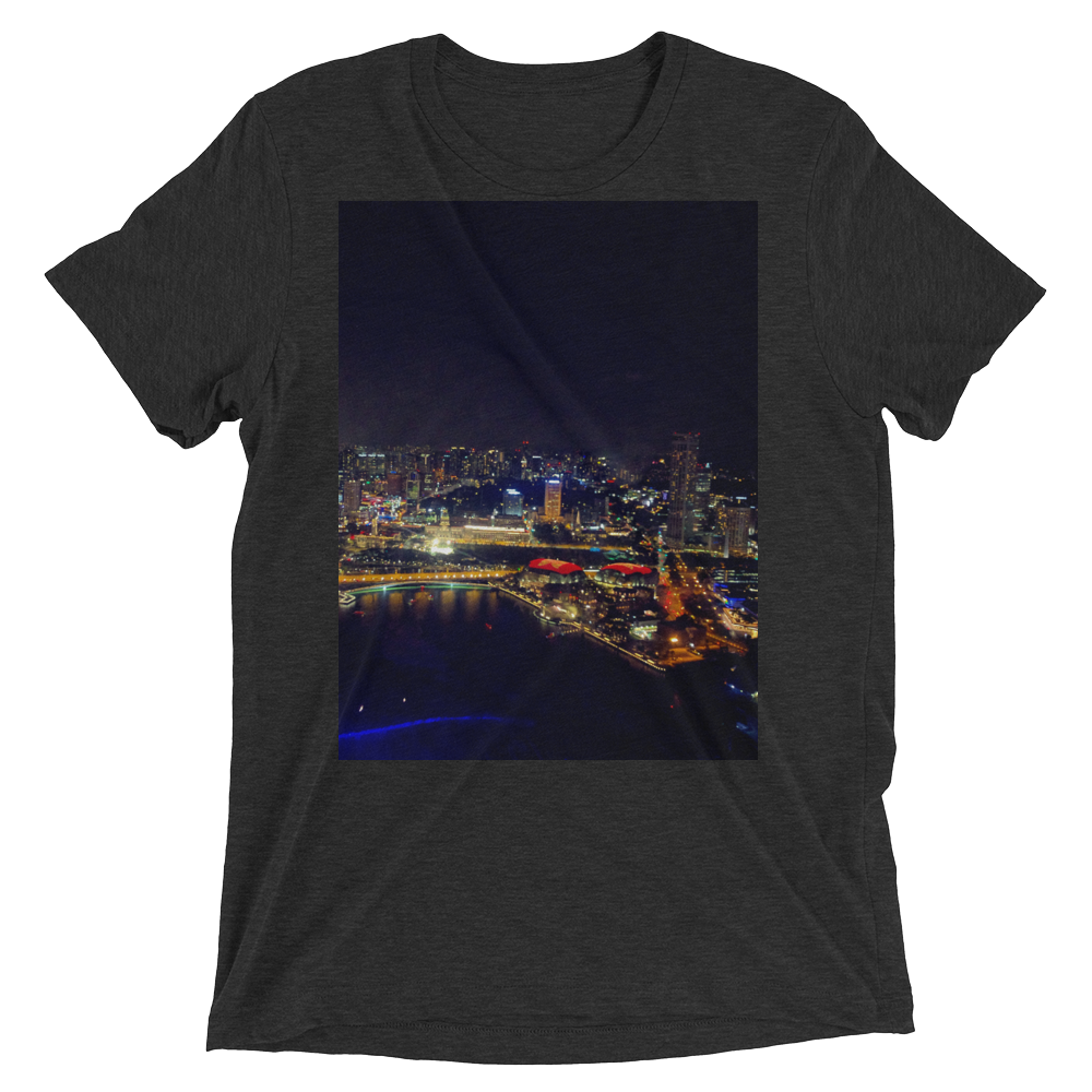 """East View"" - Charcoal-Black Triblend - Streetwear by Space Is Black Apparel"