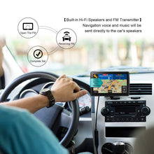 NAVRUF GPS Navigation for Car 7-inch Touchscreen+Driving Alarm, Voice Steering Navigation System,Built-in 8GB &256MB No Need to Insert a Card, Lifetime Free
