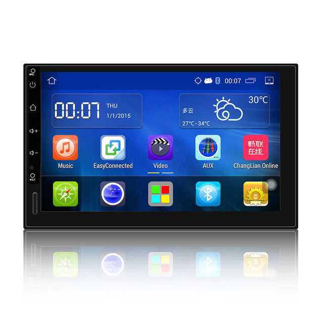 Onever Android 5.1 HD 1024*600 Auto Radio GPS Bluetooth Navigation Car Stereo Player 2 Radio Doble din Rear Camera Sar Styling