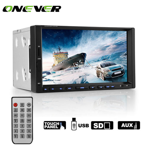 Buy 7 Inch Android Bluetooth CarMP5 Player  Stereo Touch Screen Car Radio Player Support Multiple Languages hands Free Rear Camera for $129.99