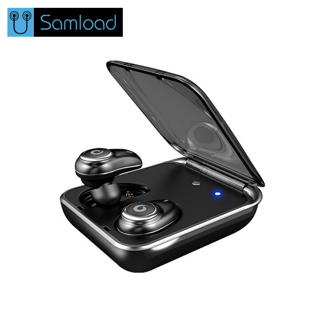 Buy Samload I7 PLUS Wireless Bluetooth Earphone business earphones wireless 3D stereo headsets power bank bluetooth phone charge for $53.66