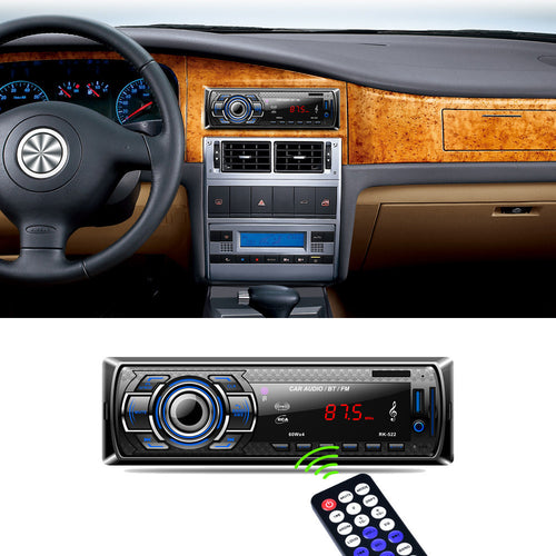 Bluetooth Car Audio Stereo FM DVD CD MP3 Player Receiver USB SD AUX Input PK-522