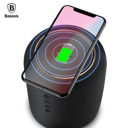 Buy Baseus Portable Bluetooth Speaker With Qi Wireless Charger Fast Wireless Phone Charger for $85.99