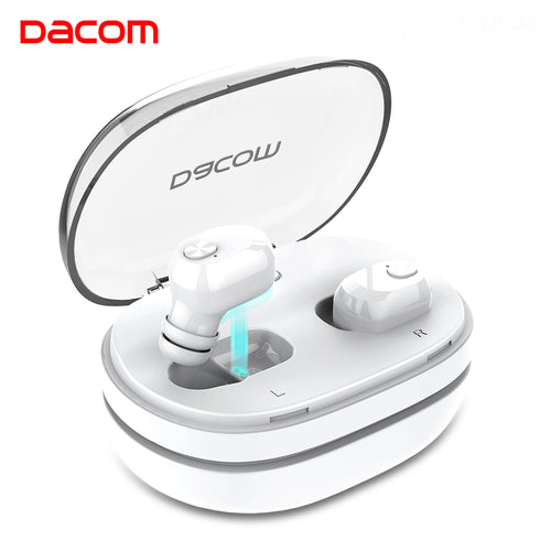 Buy DACOM K6H Ear Buds Mini Wireless Earbuds Twins Noise Canceling Earphone Bluetooth Headphones 4.2 with Handsfree for Mobile Phone for $32.71