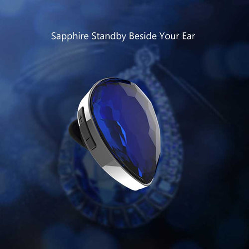 DPRUI 2018 new Bluetooth Mini Earphone in-Ear Buds Gem Headphones Stereo Wireless Headset Earpiece Blue Earbuds For Iphone