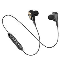 Buy Wireless Bluetooth Headphones Neckband Headset Dual Driver Earpiece Casque audio Stereo Earphones Earbuds with Mic for iPhone mi for $8.95