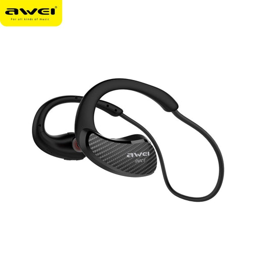 AWEI A881BL Dual Wireless Motion Headphones Mini Metal Ear Earphones Mobile Phone Bluetooth Headset Waterproof