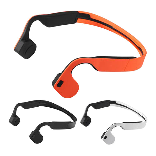 Buy Bone Conduction Sports Bluetooth 4.0 Earphone Cell Phone Stereo Headphone Headset Mic Microphone Support Hands Free Call for $31.31