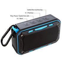 S618 Bluetooth Speaker IP67 Waterproof Handsfree TF FM Radio Portable Outdoor Speaker for Riding Climbing Bicycle