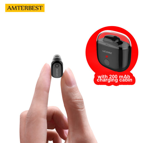 AMTERBEST Mini Bluetooth Earphone Wireless Ear Buds Headset Headphone Handsfree Invisible Earbuds Kulakl K for iPhone Android