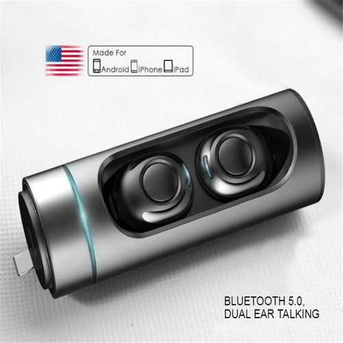 Buy Bluetooth 5.0 Headset True Wireless Hi Fi Micro in Ear Buds Invisible Earpiece with MIC for Android Xiaomi Iphone for $74.12