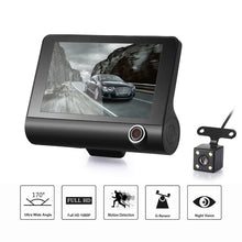 4 Inch 1080P Three Lens Car DVR Dash Cam Camera Camcorder