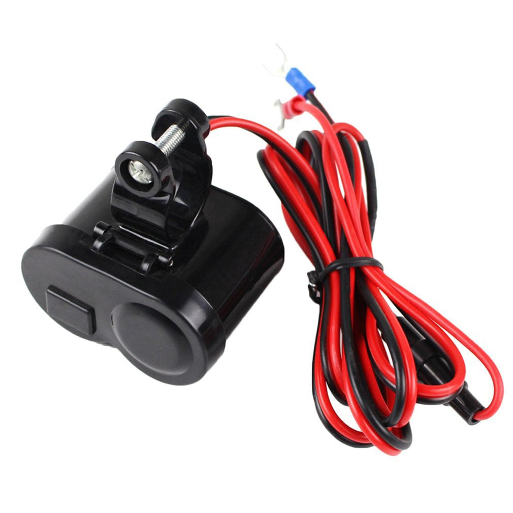Buy Usb Wateroroof Motorcycle Car Cigarette Lighter Power Socket Wiring To Outlet Black At Bluetooth Junction For Only 2399