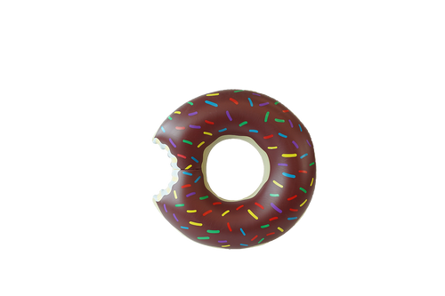 SunFloats Inflatable Chocolate Donut Ring Pool Floats