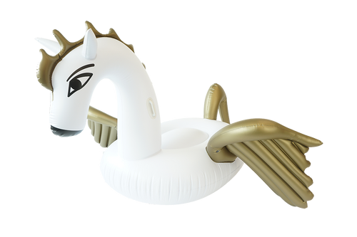 SunFloats Inflatable Pegasus Gold Pool Floats