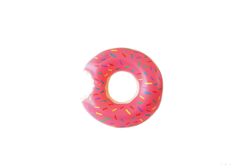 SunFloats Inflatable Strawberry Donut Ring Pool Floats