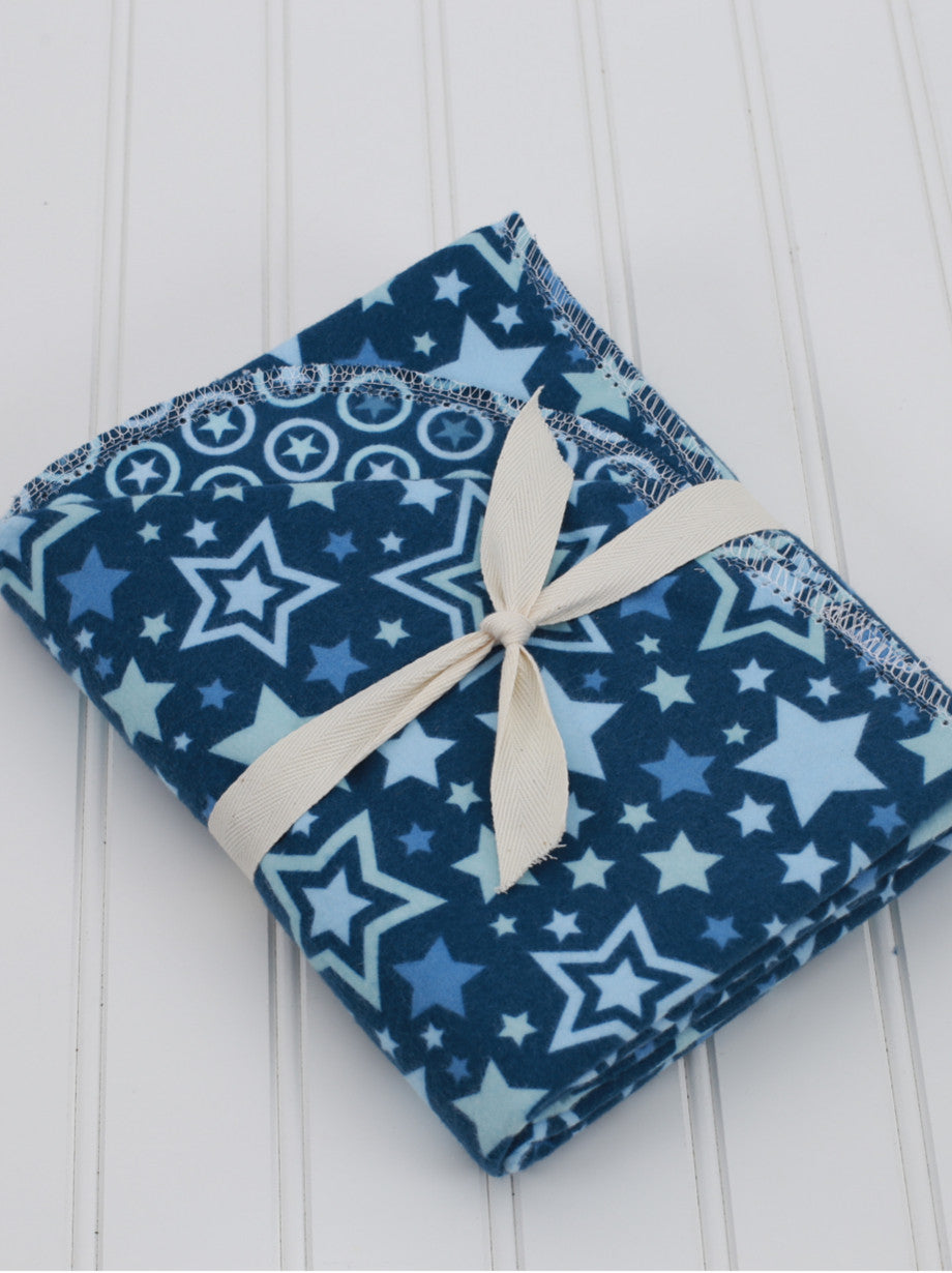 Amme & Co's Lucky Star Navy Blanket
