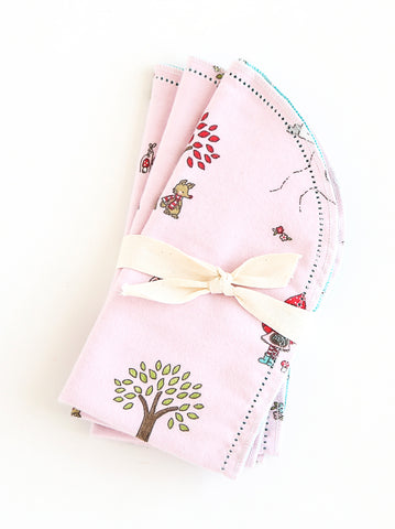 Hemstitched 3 Burps Bundle - Little Red Riding Hood