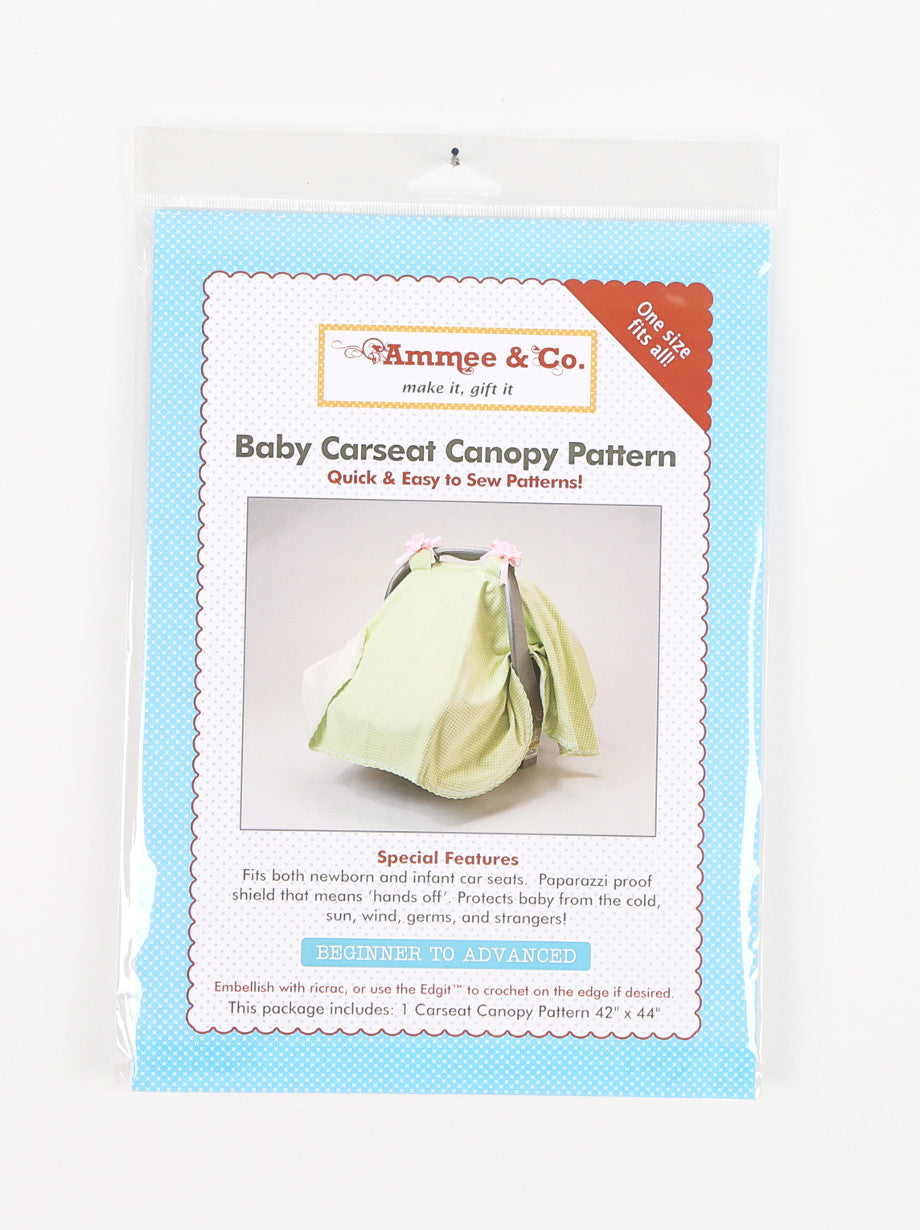 AP101 - SEWING PATTERN #1 - Carseat Canopy Pattern - One Size