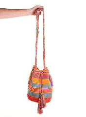 WB100 - Crochet Wayuu Bucket Bag – One-of-a-kind Design