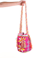 WB110 - Crochet Wayuu Bucket Bag – One-of-a-kind Design