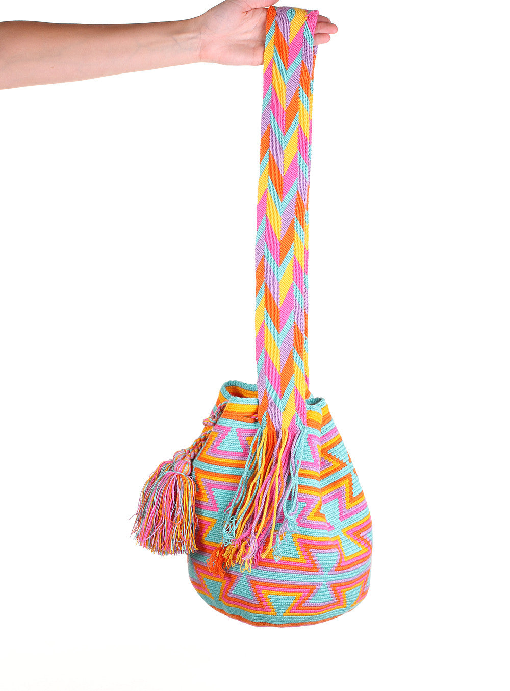 WB111 - Crochet Wayuu Bucket Bag – One-of-a-kind Design