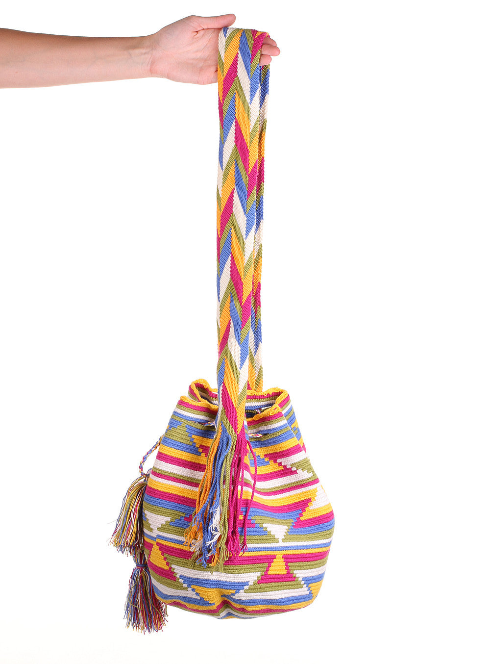 WB112 - Crochet Wayuu Bucket Bag – One-of-a-kind Design