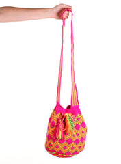 WB113 - Crochet Wayuu Bucket Bag – One-of-a-kind Design