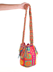 WB114 - Crochet Wayuu Bucket Bag – One-of-a-kind Design