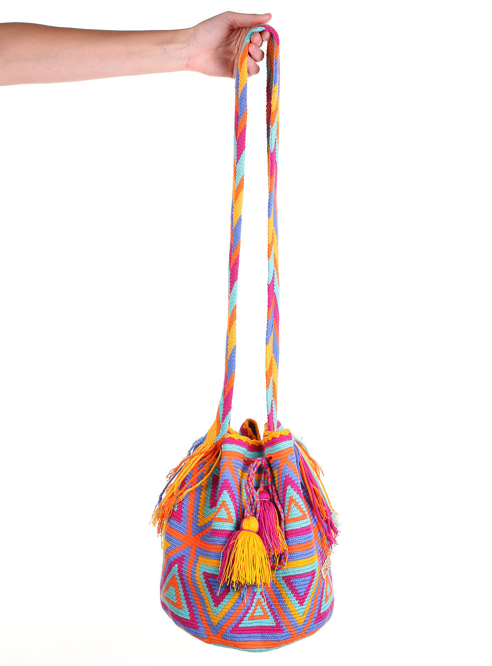 WB115 - Crochet Wayuu Bucket Bag – One-of-a-kind Design