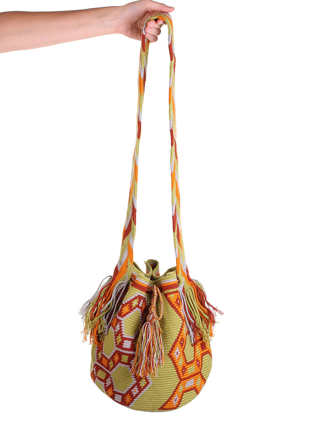 WB103 - Crochet Wayuu Bucket Bag – One-of-a-kind Design