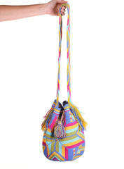 WB104 - Crochet Wayuu Bucket Bag – One-of-a-kind Design