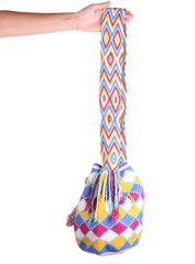 WB105 - Crochet Wayuu Bucket Bag – One-of-a-kind Design