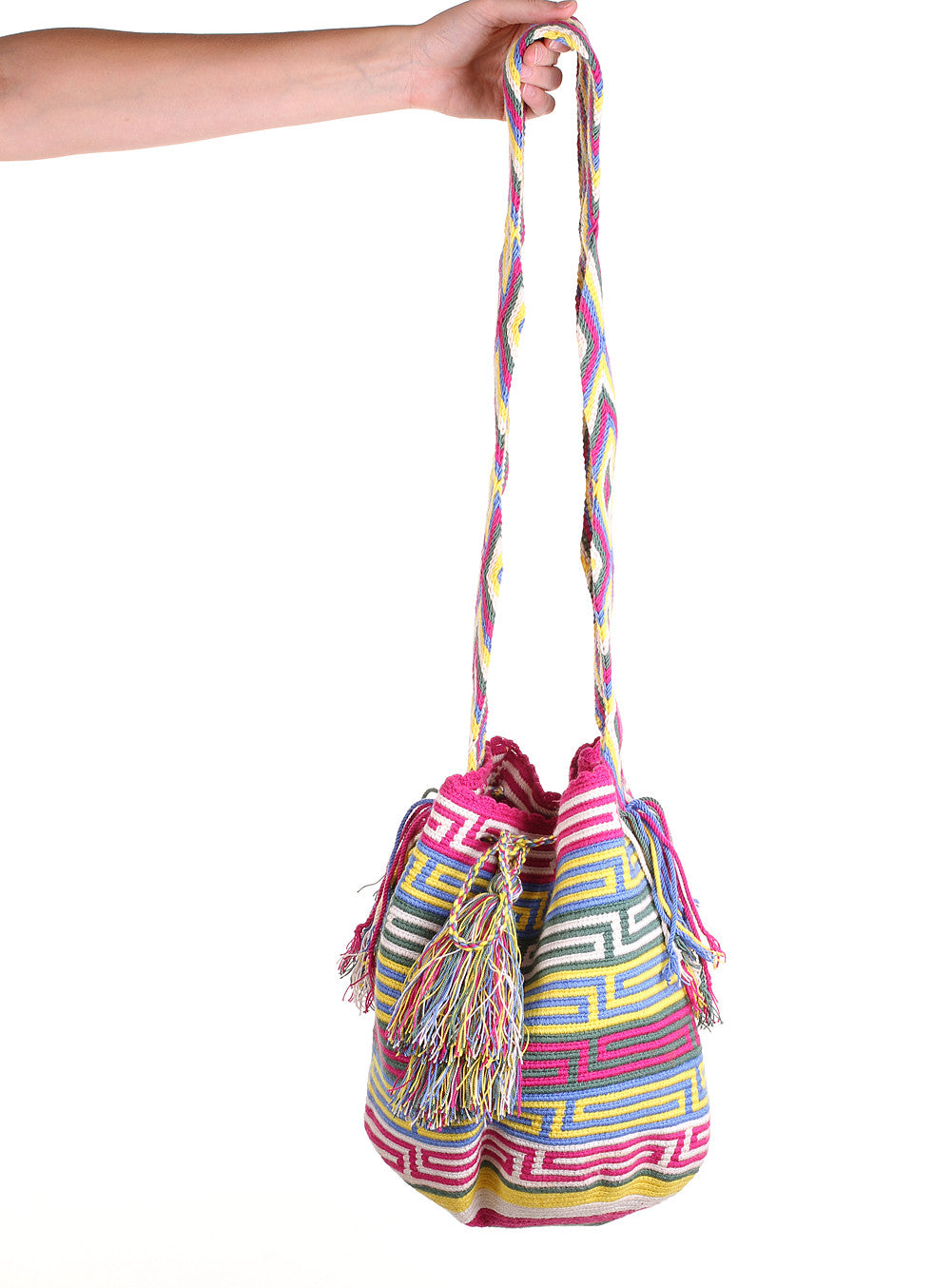 WB106 - Crochet Wayuu Bucket Bag – One-of-a-kind Design