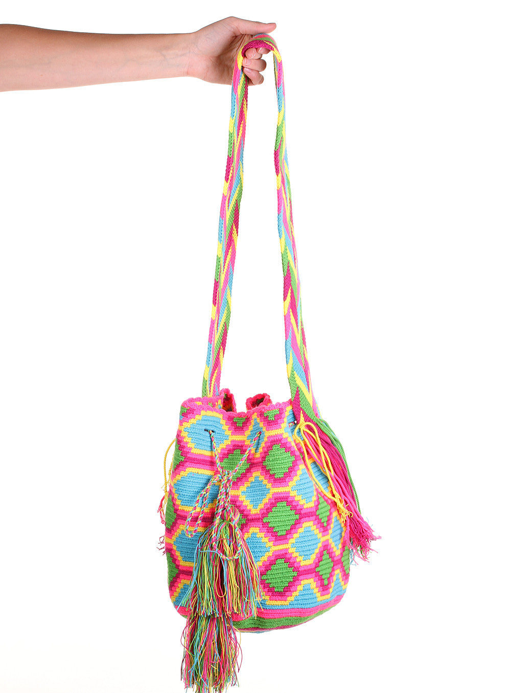 WB107 - Crochet Wayuu Bucket Bag – One-of-a-kind Design