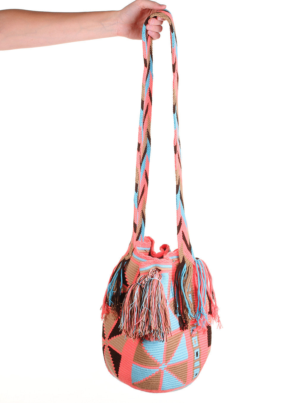 WB108 - Crochet Wayuu Bucket Bag – One-of-a-kind Design