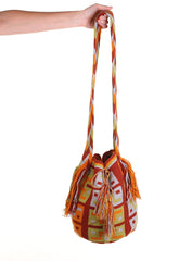 WB109 - Crochet Wayuu Bucket Bag – One-of-a-kind Design